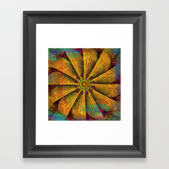 Mandala - Antiqued Framed Art Print