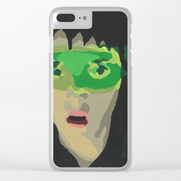 Paint by Number Lydia Deetz Clear iPhone Case