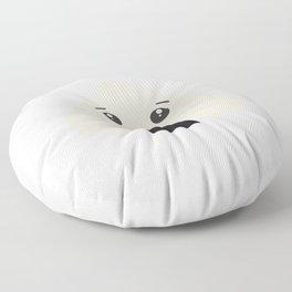 kawaii onigiri rice face Floor Pillow