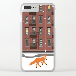 Winter in New York Clear iPhone Case