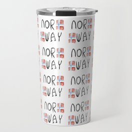 flag of norway 12 – Chalk version  snow,scandinavia,scandinavian,norwegian,oslo Travel Mug