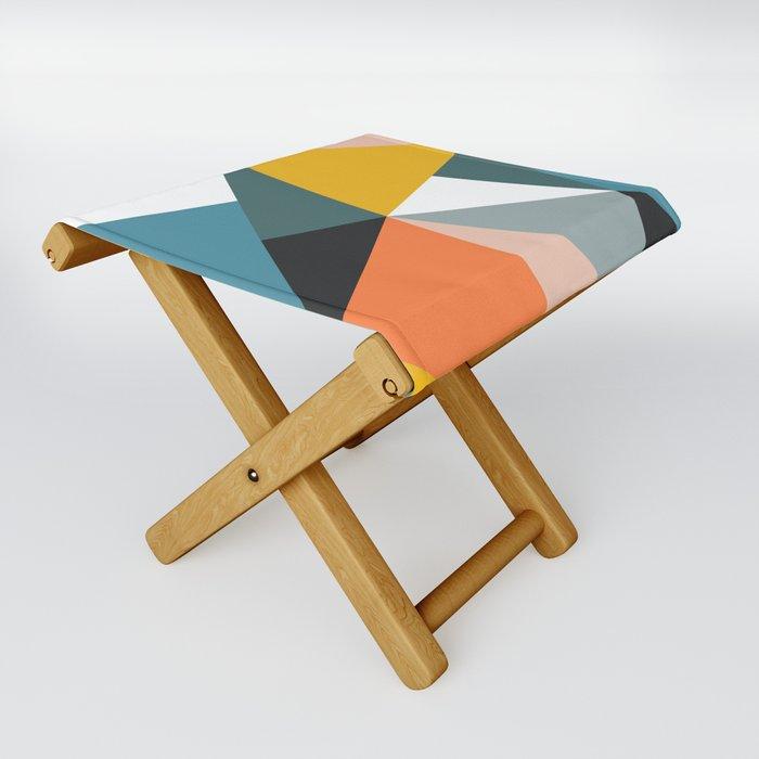Modern Geometric 36 Folding Stool