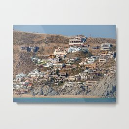 Houses on Hills I Metal Print