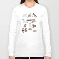 kittens Long Sleeve T-shirts featuring Little Kittens by Yuliya
