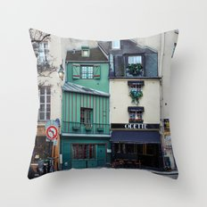 The Streets of Paris, France. Throw Pillow