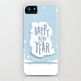Merry Christmas and Happy New Year iPhone Case