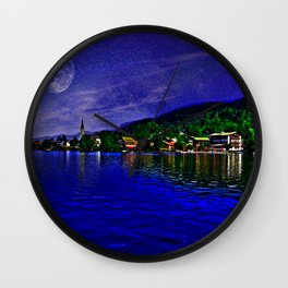 Lake Schliersee Germany Wall Clock