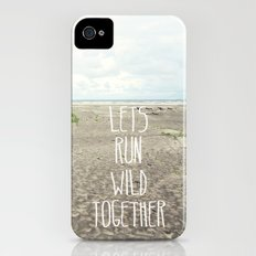 lets run wild together iPhone (4, 4s) Slim Case