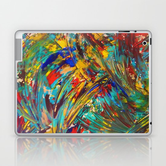 FIREWORKS IN COLOR - Bold Abstract Acrylic Painting Lovely Masculine Colorful Splash Pattern Gift Laptop & iPad Skin