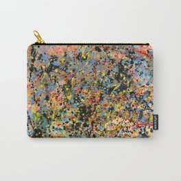 Happy abstract paint splatters Carry-All Pouch