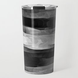 Glowing Smoky Abstract - Black and White Travel Mug
