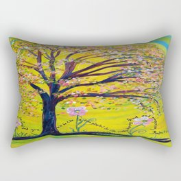 A Tree Planted by the Water Rectangular Pillow