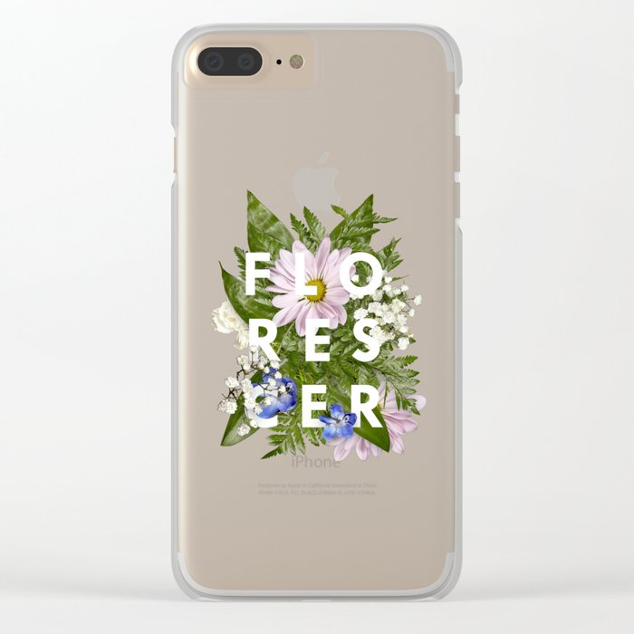 Florescer Clear iPhone Case