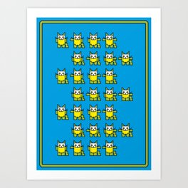 Catroid Pattern Art Print
