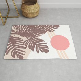 Palm Leaves with Sun Rug