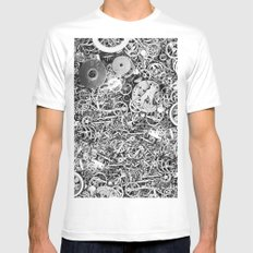 Bits of the work MEDIUM White Mens Fitted Tee