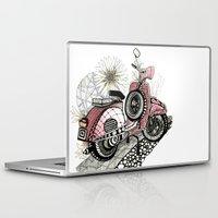 vespa Laptop & iPad Skins featuring Vespa by Mariqui Romero