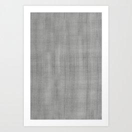 Pantone Pewter Dry Brush Strokes Texture Pattern Art Print