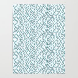 """Turquoise leopard pattern """"Leopold"""" Poster"""