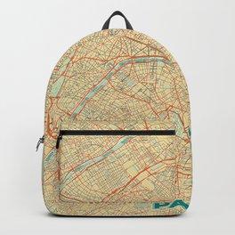 Paris Map Retro Backpack