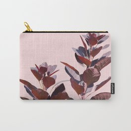 Isolated red plant branches on blush pink background PF07_3 Carry-All Pouch