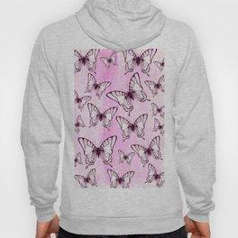 butterfly pattern on pastel pink Hoody