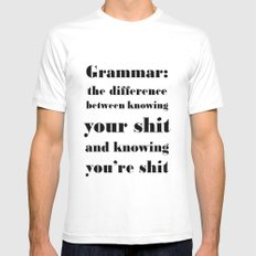 Grammar: The Difference Between Your and You're MEDIUM Mens Fitted Tee White