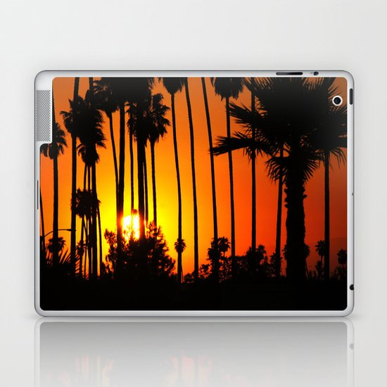 Striped Sunset Laptop & iPad Skin
