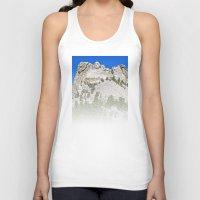rushmore Tank Tops featuring Mount Rushmore by astultz23