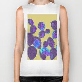 Cactus garden lilac mustard Biker Tank