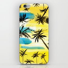 Under the palm trees iPhone Skin