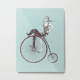Mustache Handlebar Metal Print