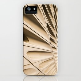Architectural abstract of the Broad (rhymes with road), Los Angeles, California iPhone Case