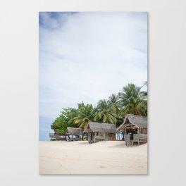 Huts on Siargao Island Canvas Print