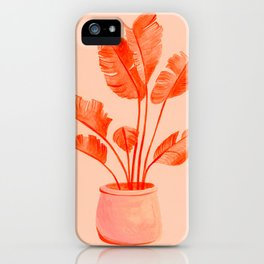Coral Banana Plant iPhone Case