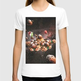 Funny Space Pasta Cat T-shirt