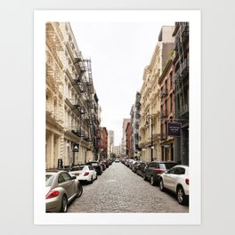 Quiet Street, Soho Art Print