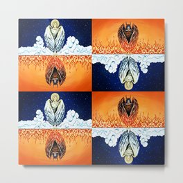 Duality: Angel/Devil Tiling (Color) Metal Print
