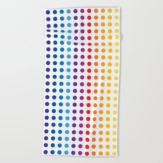 Playing with basic colors and round shapes Beach Towel