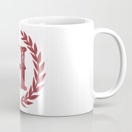 Rustic Red Monogram: Letter H Coffee Mug