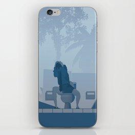 Jurassic Park poster - feat. Donald Gennaro iPhone Skin