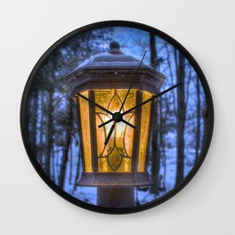 Frozen Lantern Wall Clock
