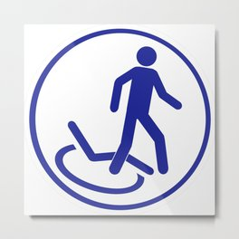 Parking zone for disabled Metal Print