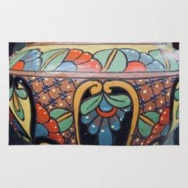 Art Deco painted clay pot Rug