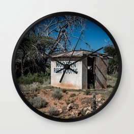 Abandoned Motel Modern Restrooms Route 66 Bard New Mexico Wall Clock