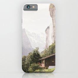 Lauterbrunnen Waterfall - Switzerland Alps Landscape iPhone Case