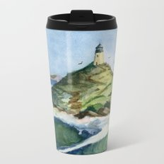 Peaceful Lighthouse V Metal Travel Mug