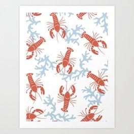 Lobster Toss Art Print