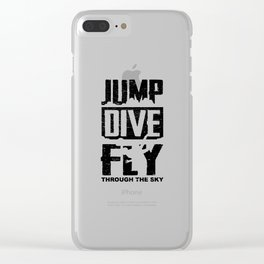 Skydiving Parachute Gift Jump Dive Fly Clear iPhone Case