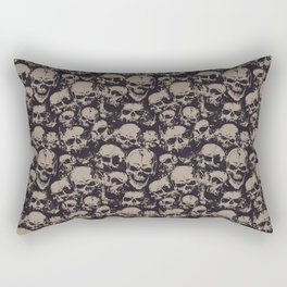Skulls Seamless Rectangular Pillow